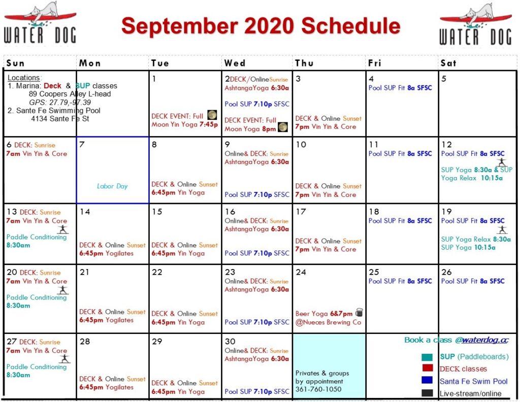 2020 9 Sept calendar Beer y