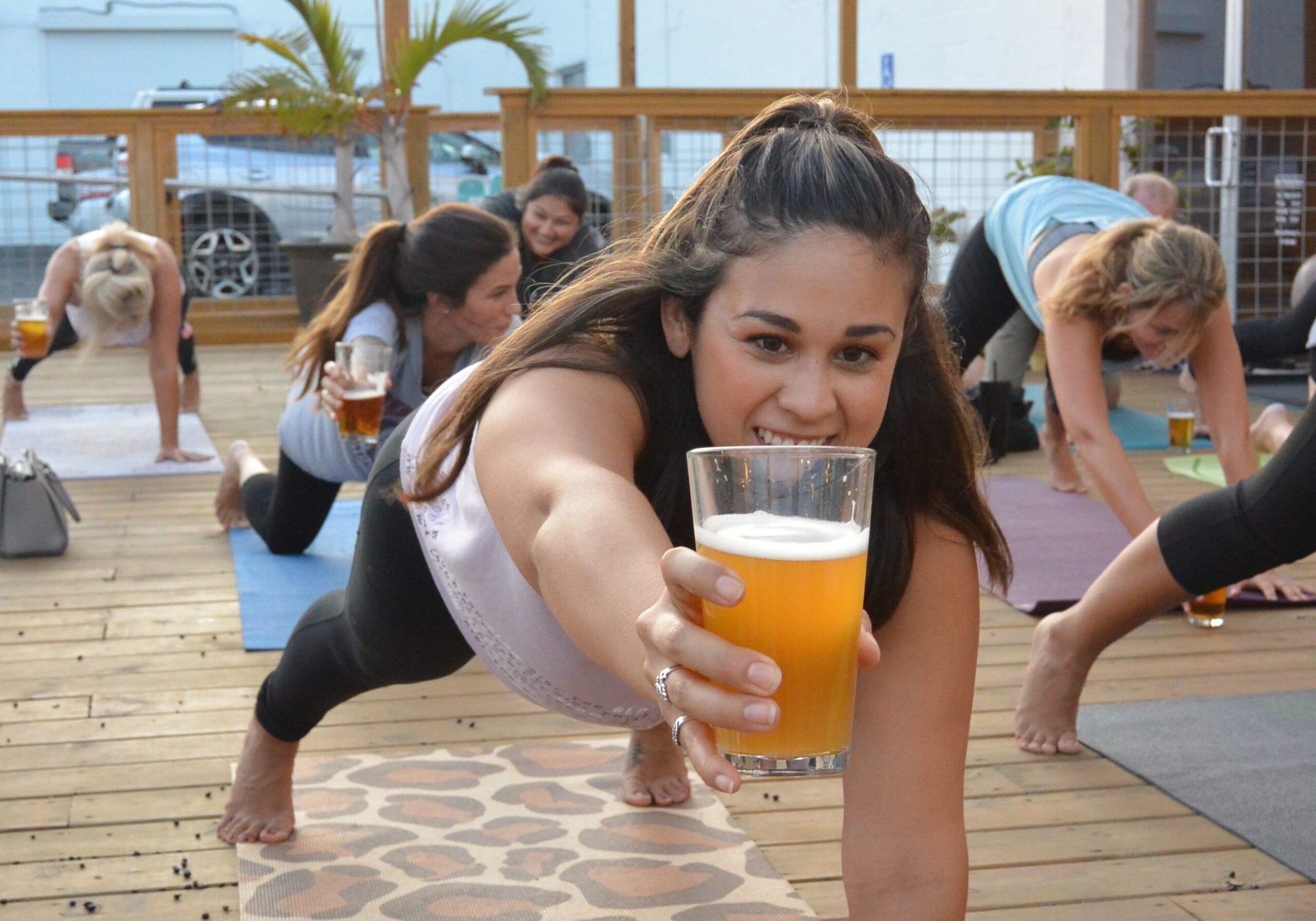 Beer Yoga with Water Dog at Nueces Brewing the last Thursday of the month