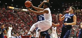 Polee, O'Brien lead No. 13 San Diego State  Over USD, 57-48