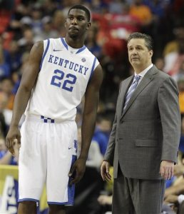 Kentucky-Poythress Injury Basketball