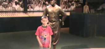 Coaches Corner interview with 9 year Old Drew Stanfield visitng Negro League Baseball Museum