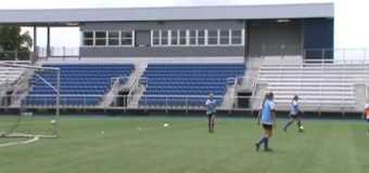 UMKC Women's Soccer Team Practice