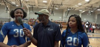 Interview with Sumner Academy Team Members Monet Spencer & Tenille Chowder at Spike Fest 2019 Tournament.