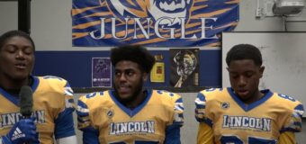 Interview with Members of Lincoln Prep Football Team After Their Homecoming Game