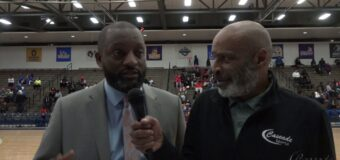 Interview with the KCPS Superintendent Mark T  Bedell at the Lincoln Prep VS Central game