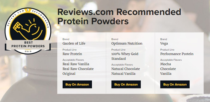 recommended protein powder