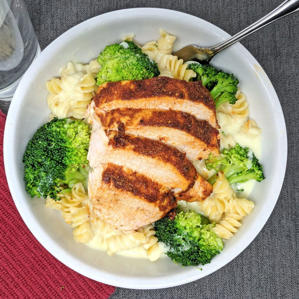 Epiphany Meal Prep chicken broccoli mac and cheese