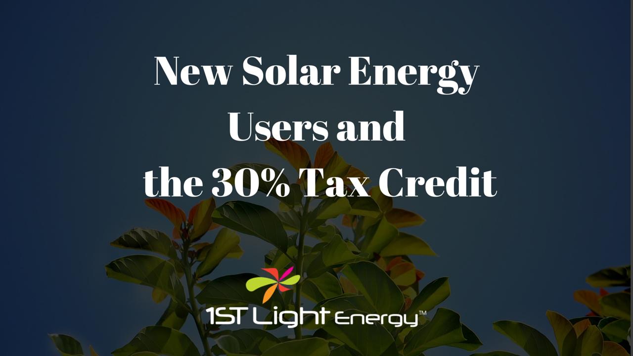 New Solar Energy Tax Credit