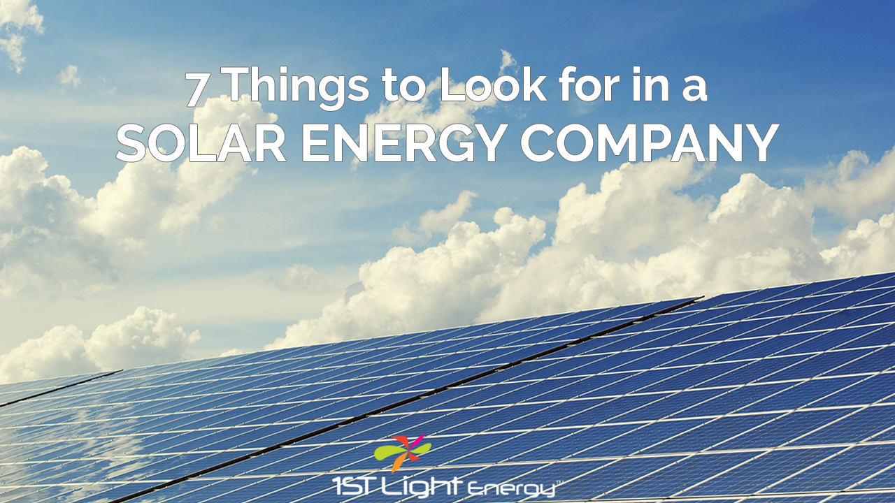 7 Things to Look for in a Solar Energy Company Image
