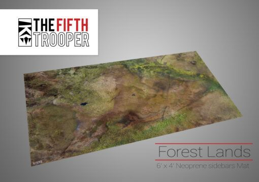 Forest Lands - 6'x4' Gaming Mat with Carrying Bag 3
