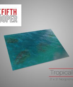 Tropical Water Gaming Mat