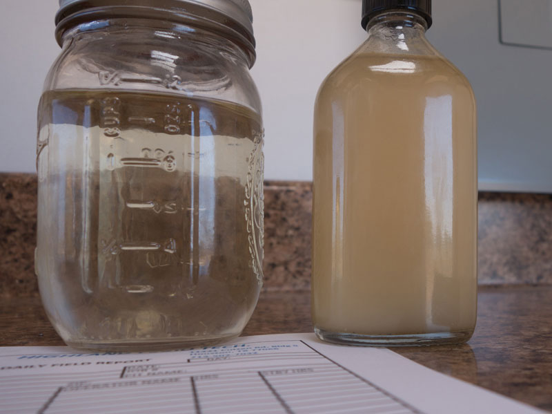 Not only did X-Flow with the new membrane technology separate oil and water in an extreme application, it outperformed the existing treatment that pumps too much oil, and with it, lost revenue downhole. The injected fluid sample is shown on the right. On the left is the same water after treatment. Initial sample contained 198,000 ppm oil, and the disposal well's injection pressure has been increasing. After treatment, only 3 ppm of oil remained.