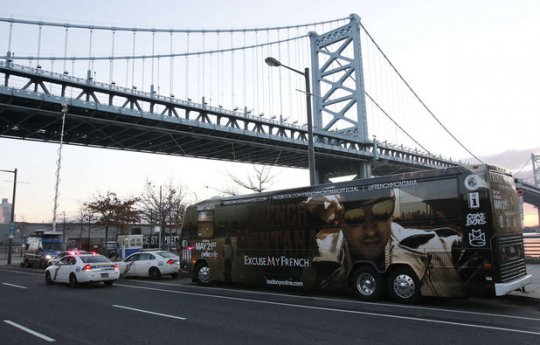 French Montana official tour bus