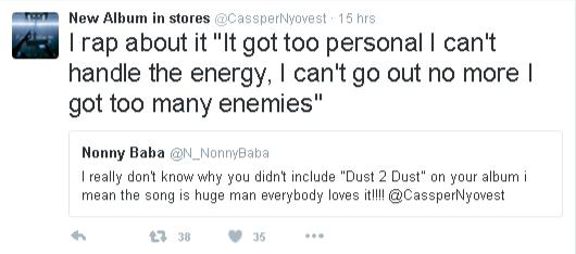 Cassper Nyovest dust