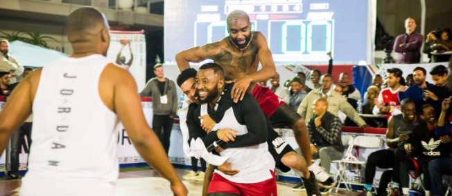 Watch Cassper Nyovest's 3 Pointer At The Celeb NBA Game