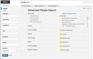 advanced search linkedin