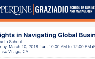 Pepperdine University – Insights in Navigating Global Business