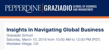Pepperdine University – Insights in Navigating Global Business
