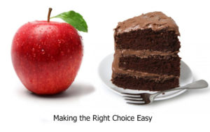 Healthy or unhealthy choice? Lose Weight.