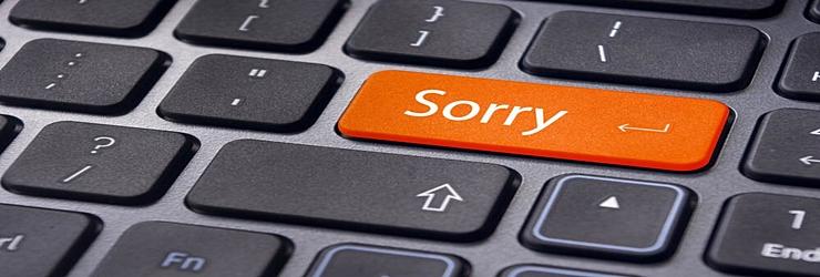 Es muy tarde ahora para decir… lo siento