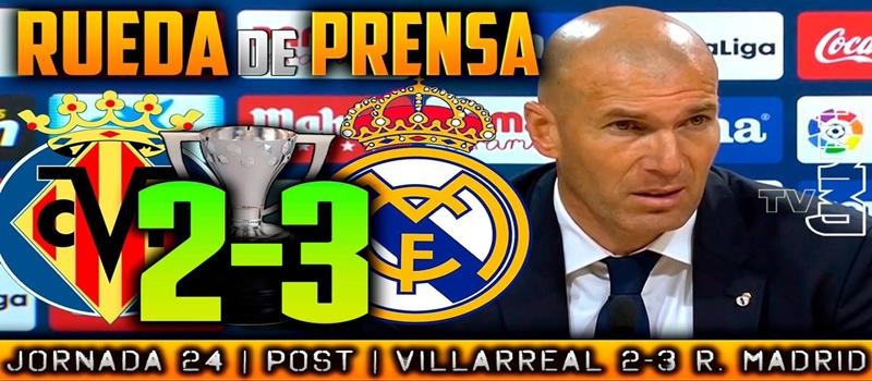 Rueda de prensa de Zinedine Zidane tras el partido ante el Villarreal