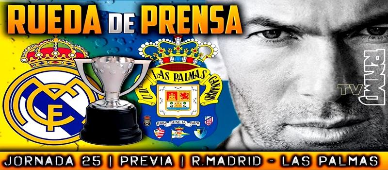 Rueda de prensa de Zinedine Zidane previa al partido ante la UD Las Palmas