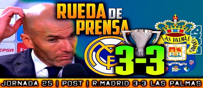 Rueda de prensa de Zinedine Zidane tras el partido ante la UD Las Palmas