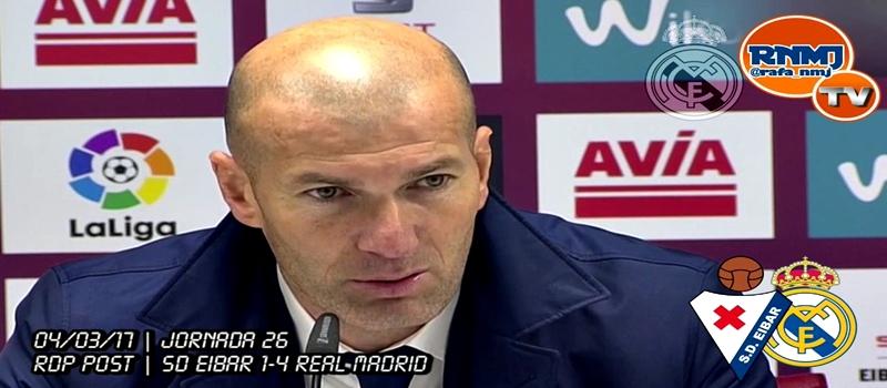 Rueda de prensa de Zinedine Zidane tras el partido ante el Eibar