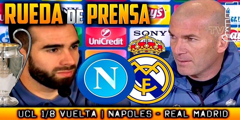 Rueda de prensa de Dani Carvajal y Zinedine Zidane previa al partido ante el Nápoles