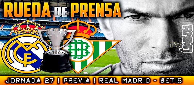 Rueda de prensa de Zinedine Zidane previa al partido ante el Betis
