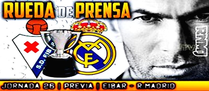 Rueda de prensa de Zinedine Zidane previa al partido ante el Eibar
