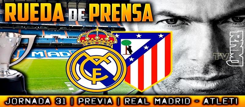 Rueda de prensa de Zinedine Zidane previa al partido ante el Atlético de Madrid
