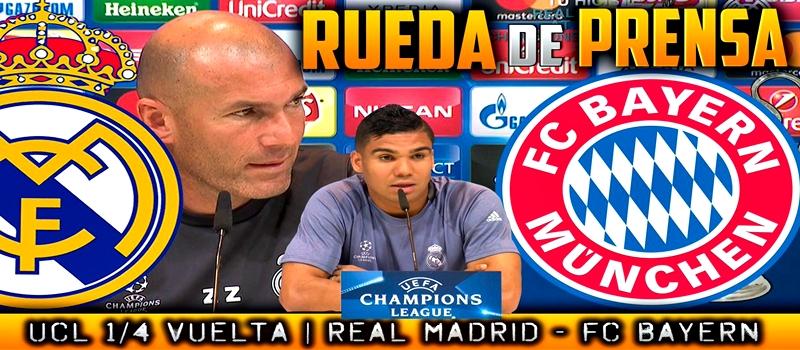 Rueda de prensa de Zinedine Zidane y Casemiro previa al partido ante el Bayern Munich