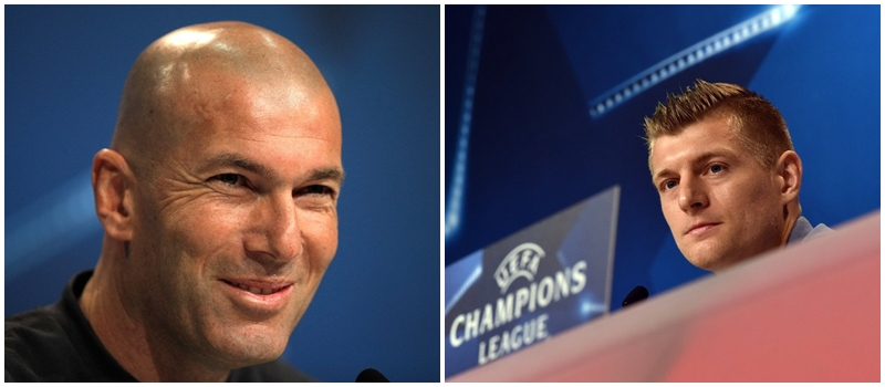 Rueda de prensa de Zinedine Zidane y Toni Kroos previa al partido ante el Bayern Munich