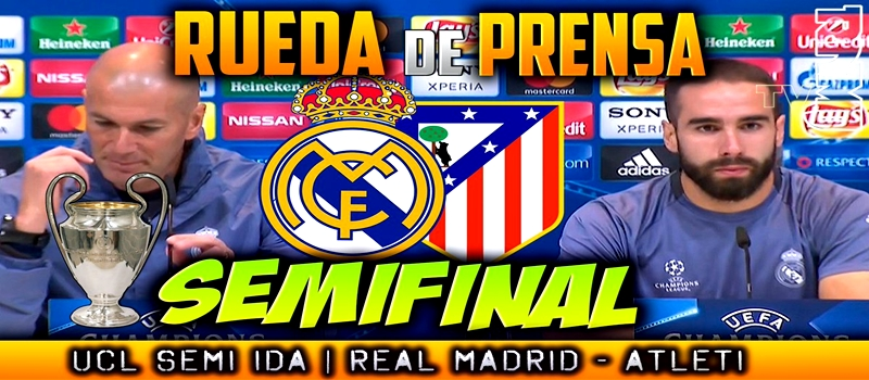 Rueda de prensa de Zinedine Zidane y Dani Carvajal previa al partido ante el Atlético de Madrid