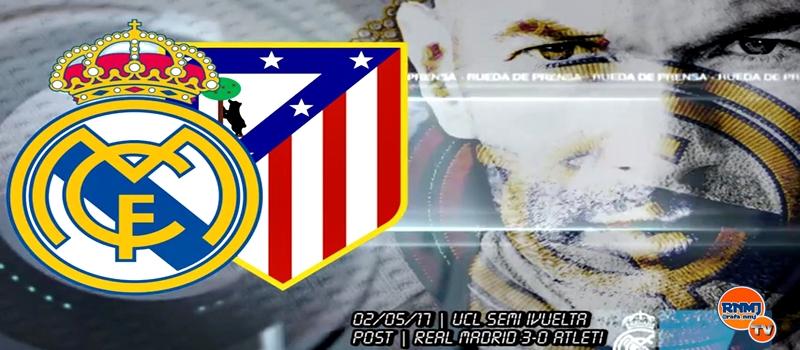 Rueda de prensa de Zinedine Zidane tras el partido ante el Atlético de Madrid