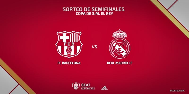 NOTICIAS   El Real Madrid se enfrentara al FC Barcelona en semifinales de la Copa del Rey