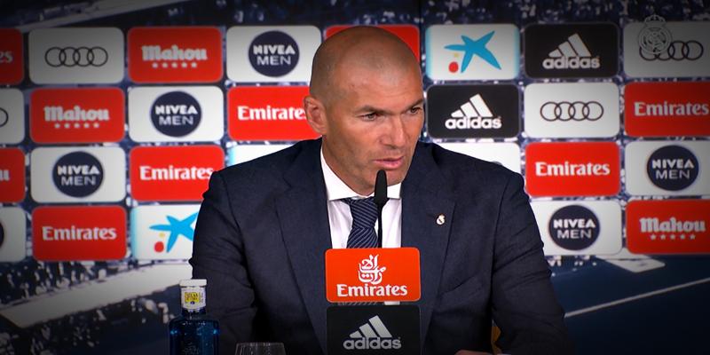 VÍDEO   Rueda de prensa de Zinedine Zidane tras el partido ante el Alavés