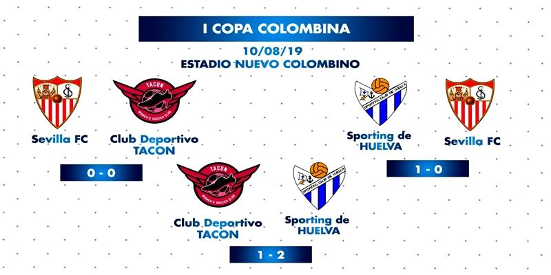CRÓNICA | Buenas sensaciones en la Copa Colombina: Sevilla 0 – 0 CD Tacon | CD Tacon 1 – 2 Sporting Club de Huelva