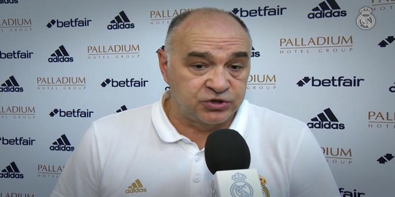 """DECLARACIONES   Pablo Laso: """"Estoy muy contento porque en menos de una semana hemos ganado cuatro partidos"""""""