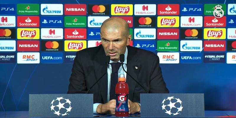VÍDEO   Rueda de prensa de Zinedine Zidane tras el partido ante el Paris Saint-Germain