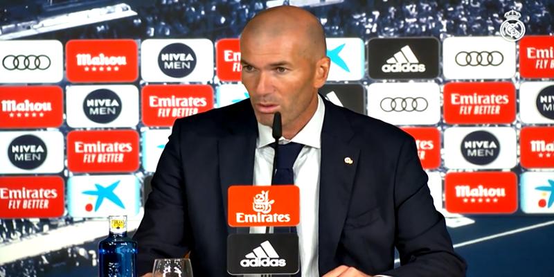 VÍDEO   Rueda de prensa de Zinedine Zidane tras el partido ante el Getafe