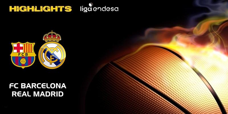VÍDEO   Highlights   FC Barcelona vs Real Madrid   Liga Endesa   Jornada 15