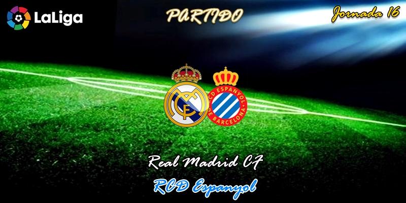 VÍDEO   Partido   Real Madrid vs RCD Espanyol   LaLiga   Jornada 16