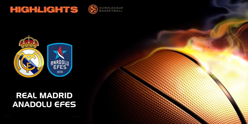 VÍDEO | Highlights | Real Madrid vs Anadolu Efes | Eurolegue | Jornada 21