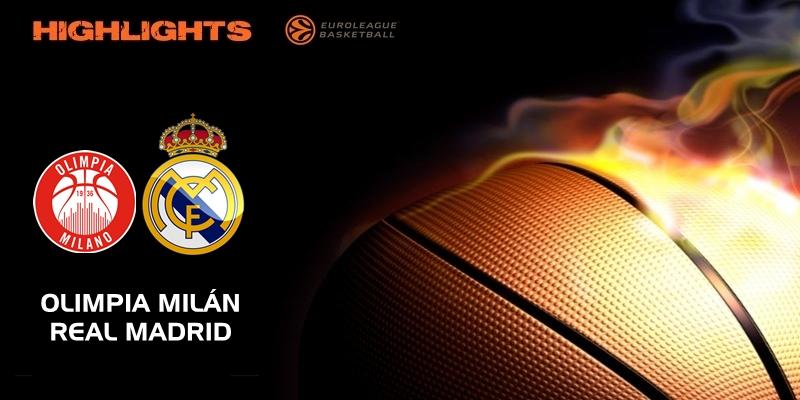 VÍDEO   Highlights   Olimpia Milán vs Real Madrid   Euroleague   Jornada 27