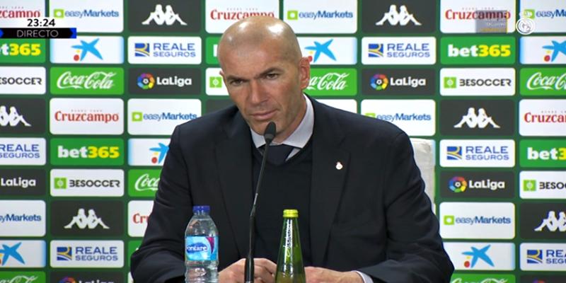 VÍDEO   Rueda de prensa de Zinedine Zidane tras el partido ante el Betis