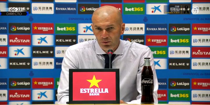 VÍDEO   Rueda de prensa de Zinedine Zidane tras el partido ante el Espanyol