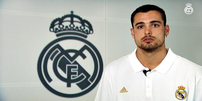 VÍDEO | Alberto Abalde: «Es un sueño estar en el Real Madrid»