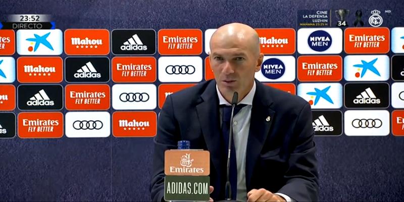 VÍDEO   Rueda de prensa de Zinedine Zidane tras el partido ante el Cádiz